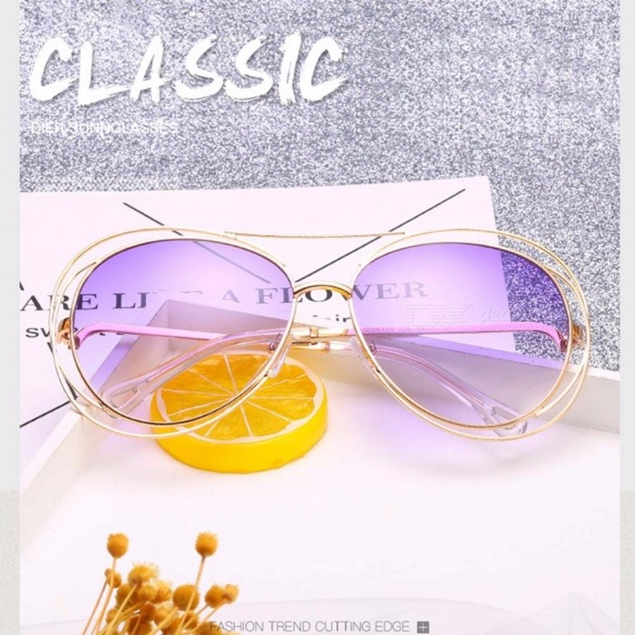 3a704384ad New Unisex Womens Mens Marine Metal Double Ring Hollow Out The Sun Glasses  Individuality Frog Mirrored Sunglasses Yellow - Worldwide Free Shipping - DX