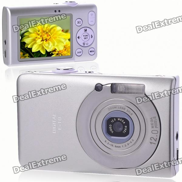 "5.0MP CMOS Compact Digital Video-Kamera mit 8-fachem Digitalzoom / USB / AV / SD - Silber (2,4 ""TFT LCD)"