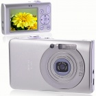"5.0MP CMOS Compact Digital Video Camera with 8X Digital Zoom/USB/AV/SD - Silver (2.4"" TFT LCD)"