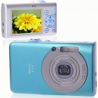 "5.0MP CMOS Compact Digital Video Camera with 8X Digital Zoom/USB/AV/SD - Blue (2.4"" TFT LCD)"