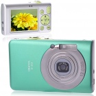"5.0MP CMOS Compact Digital Video Camera with 8X Digital Zoom/USB/AV/SD - Green (2.4"" TFT LCD)"
