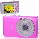 5.0MP CMOS Compact Digital Video Camera with 8X Digital Zoom/USB/AV/SD - Pink (2.4