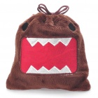 Cute Domo Kun Drawstring Pouch Coins/Purse Organizer/Gadgets Bag - Brown