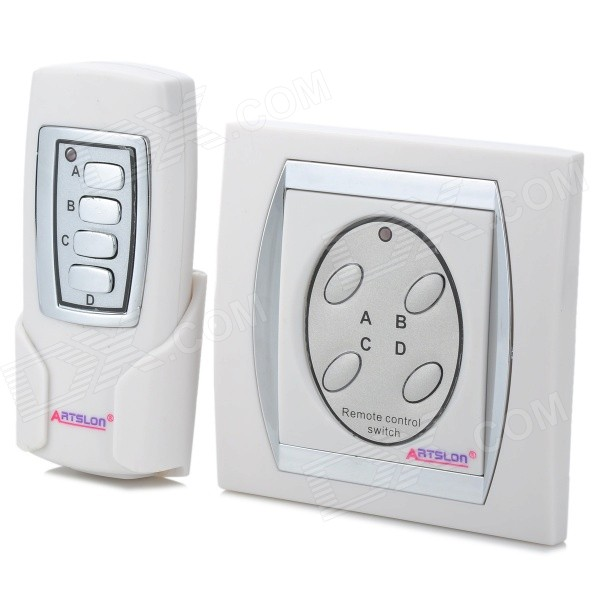 Wireless 4 Ways Remote Control Home Lamp Light Switch