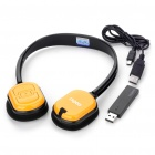 Genuine Rapoo H1080 2.4GHz Wireless Headphone with Microphone & USB Receiver - Black + Yellow