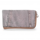 Small Denim Pouch Bag for Cell Phone/Gadgets (Grey)