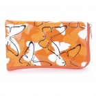 Butterfly PU Leather Pouch Bag for Cell Phone/Gadgets (Orange)