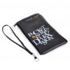 Trendy PU Leather Pouch Bag for Cell Phone/Gadgets (Black)