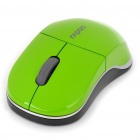 Genuine Rapoo 1100X 2.4GHz Wireless 1000CPI USB Optical Mouse with Receiver - Green (1 x AA)