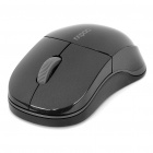 Genuine Rapoo 1100X 2.4GHz Wireless 1000CPI USB Optical Mouse with Receiver - Black (1 x AA)