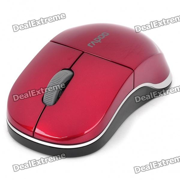Genuine Rapoo 1100X 2.4GHz Wireless 1000CPI USB Optical Mouse with Receiver - Red (1 x AA)