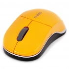 Genuine Rapoo 1100X 2.4GHz Wireless 1000CPI USB Optical Mouse with Receiver - Orange (1 x AA)