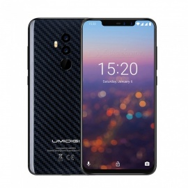 "UMIDIGI Z2 Pro. 6.2"" Notch MTK P60 AI Processing Unit Phone with 6GB RAM, 128GB ROM, 3550mAh - Carbon Fiber"