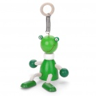 Cute Wooden Spring Toy - Frog