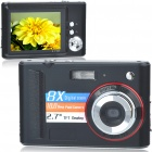 "DC-E40 7.0MP CMOS Compact Digital Video Camera with 8X Digital Zoom/USB/SD - Black (2.7"" TFT LCD)"
