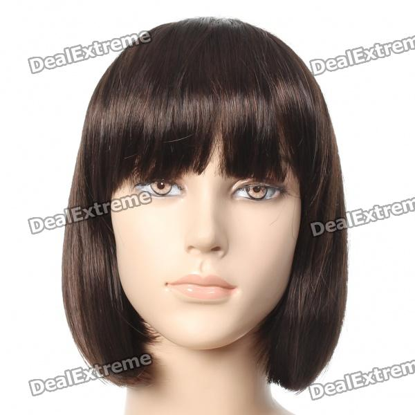 Fashion Short Straight Hair Wigs - Brown fashion women hair accessory synthetic black short straight wigs