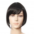 Fashion Short Straight Hair Wigs - Black