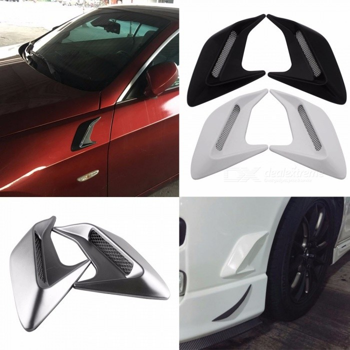 2 Universal Car Air Flow Vent Fender Side Door Bonnet Decals Auto Sticker DIY