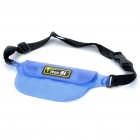 Multifunction PVC Waterproof Waist Bag for Cellphone/MP3/MP4/Digital Camera - Blue