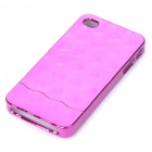 Stylish Electroplating Protective PC Back Case for Iphone 4 - Purplish Red