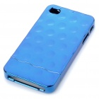 Stylish Electroplating Protective PC Back Case for Iphone 4 - Blue