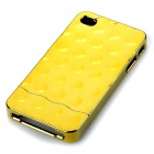 Stylish Electroplating Protective PC Back Case for Iphone 4 - Golden