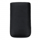 Protective PU Leather Case for iPhone 3G/4 - Black