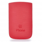Protective PU Leather Case for iPhone 3G/4 - Red
