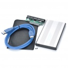 "2.5"" SATA USB 3.0 HDD Enclosure with Pouch - Grey (Super-Speed 5Gbps)"