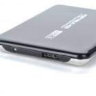 "2.5"" SATA USB 3.0 HDD Enclosure with Pouch - Black + Silver (Super-Speed 5Gbps)"