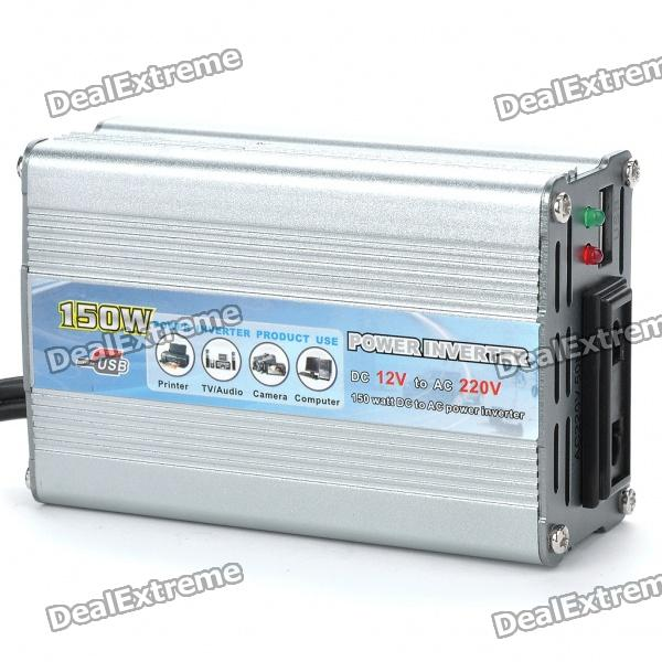 150W Car 12V to 220V Power Inverter with USB Power Port