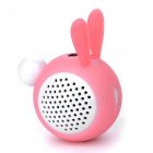 Cute Rabbit Shaped Portable USB Rechargeable Speaker - White