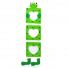 Cute Frog 3-Picture Hanging Wooden Photo Frame - Green (8 * 7cm)
