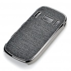 Electroplating Protective PC Back Case for Nokia C7 - Black