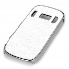 Electroplating Protective PC Back Case for Nokia C7 - Silver White