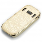 Electroplating Protective PC Back Case for Nokia C7 - Golden