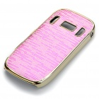 Electroplating Protective PC Back Case for Nokia C7 - Pink