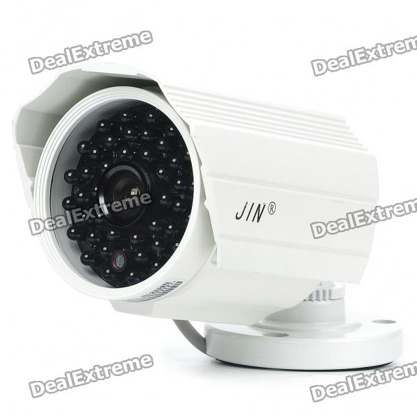 1/3 CCD Waterproof Surveillance Security Camera with 42-LED Night Vision - White (DC 12V) - DXCCTV Cameras<br>Aluminum case material - 1/3 SONY CCD camera with 42-LED night vision - Colorful image (b/w image in night vision) - Pixel: PAL 752(H) x 582(V) - View angle: 50 degree - Horizontal resolution: 420TV Lines - Minimum illumination: 0LUX in night vision - Night vision distance: 2~30m - Lens focal length: 6mm - Power: DC 12V - Backlight compensation: Auto - Shutter speed: 1/50~1/100000 sec - Water resistant - Widely used in Home Office School Age Care Childcare applications for theft prevention after-hours surveillance home security etc. - Length of cable: 30cm - Comes with installation screws pack &amp; hex wrench - Chinese user manual included<br>