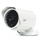 1/3 CCD Waterproof Surveillance Security Camera with 42-LED Night Vision - White (DC 12V)