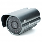 1/3 CCD Waterproof Surveillance Security Camera with 30-LED Night Vision - Grey (DC 12V)