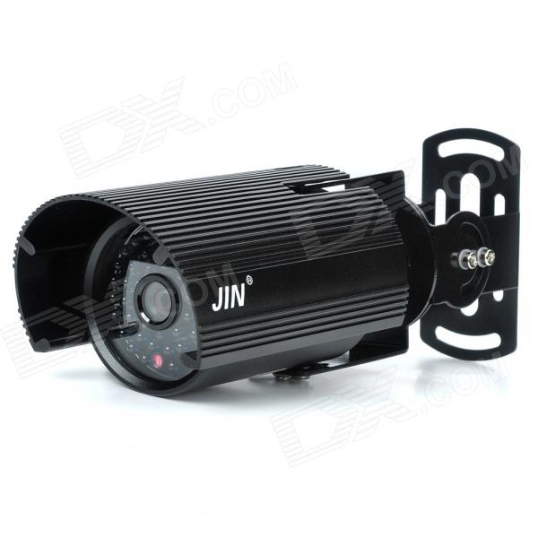 1/3 CCD Waterproof Surveillance Security Camera with 48-LED Night Vision - Black (DC 12V) mini cmos surveillance security camera with 24 led night vision black dc 12v