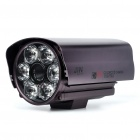1/3 SONY CCD Waterproof Surveillance Security Camera with 12-LED Night Vision - Purple (DC 12V)
