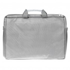 "Protective Nylon Bag with Shoulder Strap for 17"" Laptop Notebook - Grey"