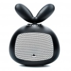 USB Powered Cute Rotating Rabbit Speaker - Black (3.5mm Jack)