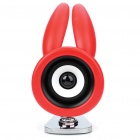 USB Powered Cute Spring Rabbit Speaker - Red (3.5mm Jack)