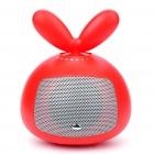 USB Powered Cute Rotating Rabbit Speaker - Red (3.5mm Jack)