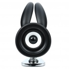 USB Powered Cute Spring Rabbit Speaker - Black (3.5mm Jack)