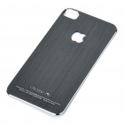 Stylish Aluminum Alloy Back Sticker Case for iPhone 4 - Black