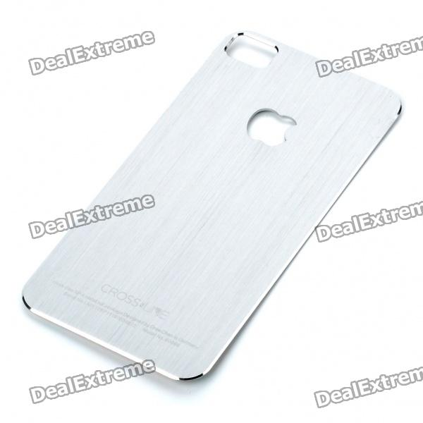 Stylish Aluminum Alloy Back Sticker Case for iPhone 4 - Silver