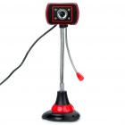 USB 2.0 300K Pixel Webcam with Microphone and White 4-LED Night Vision for PC/Laptop
